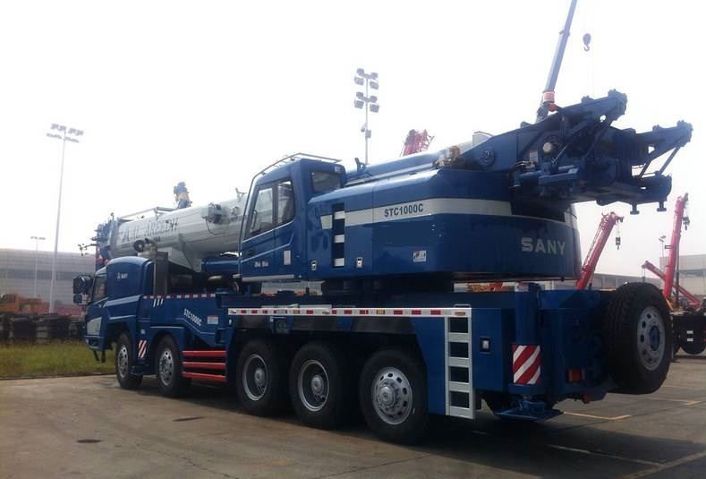 Sany Truck Crane STC1000C export to Saudi Arabia for Jida International Airport Construction